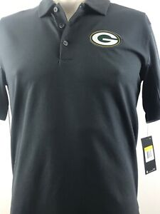 Nike Green Bay Packers Sideline Team Issue Logo Performance Polo Charcoal Small