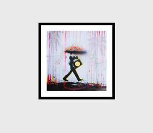 crypto bit coin Man original wall décor rain art Poster  print street
