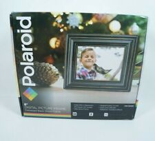 "Polaroid 8"" Digital Picture Frame Black Wood Frame"