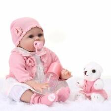 55 cm Reborn Babys echte silikon Puppe lebensechte babypuppen Toddler Madchen