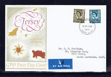 Jersey 1968 QE II Official Regional 4d & 5d Stamps Airmail FDC -  Addressed