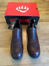 Wolverine Mens Ranchero Romeo Steel Toe Industrial Shoe, Pull-On Peanut Sz 12M