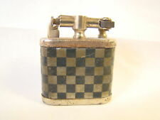 Antique Lift Arm Black Silver Checker Board Made In USA Lighter Sparking Well