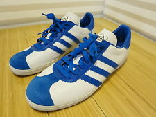 Adidas mi Custom Sneaker Medium Fit Mens 11.5 US White Base Blue Stripes
