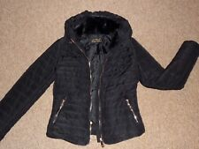 """Only Fashion"" Coat Faux Fur Collar + Hood Size Small"