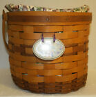 463 - Longaberger 1996 Sweet Pea Basket Set - liner, protector, and tie-on RARE