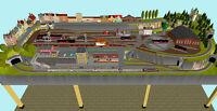 """GP3-0020 Märklin C-Gleis-Plan """"HH-Tiefstack"""" 300x118cm (DIN A4-Mappe Color)"""