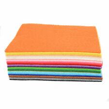 DIY Craft 40pcs Set Colorful Felt Sheets Rainbow Polyester Wool Blend Fabric Kit
