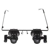 Schwarze 20X Reparatur Brille-Lupe mit LED-Licht