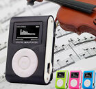 Mini USB Clip MP3 Music Player LCD Screen Support 32GB Micro SD TF Card Radio