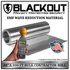 """Emf Rf Faraday Cage Wave Reduction Material 48"""" X 300' Contractor Roll by Blacko"""