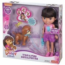 Dora & Friends Train & Play Dora and Perrito Fisher-Price Nickelodeon -New