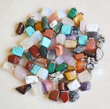 Fashion Assorted mixed Natural Stone Irregular charms Pendants 30pcs Wholesale