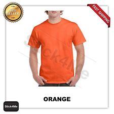 NEW Gildan Men's Heavy Cotton Plain Crew Neck Short Sleeves T-Shirt 5000 S~3XL