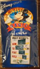 NEW Disney Store 12 Months Of Magic Pins How to play Golf 2002 Pin Back GOOFY