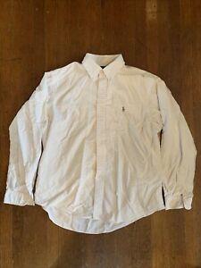Polo Ralph Lauren Custom Fit White Oxford Cotton Long Sleeve Button Down XL OCBD