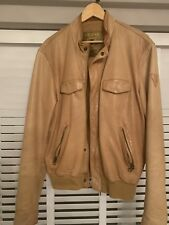 GUESS MENS TAN LEATHER JACKET XL RRP £425