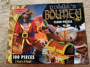 Melissa & Doug Kids Floor Puzzles -Pirates Bounty, Safari - 100 Pieces -Complete