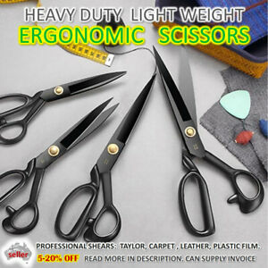 SCISSORS HEAVY DUTY Ergonomic Shears Upholstery Carpet Leather Tailor Industrial