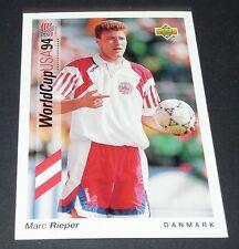 MARC RIEPER BRONDBY DANMARK FOOTBALL CARD UPPER DECK USA 94 PANINI 1994 WM94