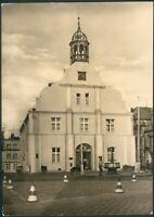 Postkarte Wolgast -Rathaus, s/w, orig. gelaufen nach Güstrow