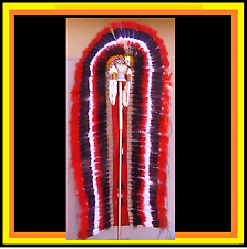 "Genuine Native American Navajo Indian Headdress 6 foot DOUBLE TRAILER ""CHOCTAW"""