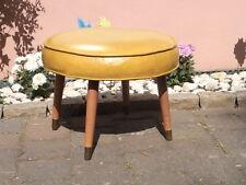 Orig 50er Jahre Polsterhocker Fußhocker Sitzhocker Ottomane Sitting foot - stool