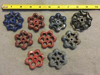 Lot Of 9 Vintage Light Metal Water Faucet Handles Knobs Valves Steampunk Lot #33