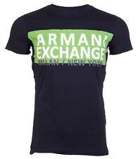 Armani Exchange AN-06 Mens Designer T-SHIRT Premium NAVY BLUE Slim Fit $45 NEW