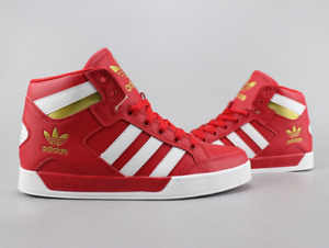 Adidas Mens Hard Court Hi Top Shoes Trainers Red/White/Gold FV5328 UK 6 - 11.5