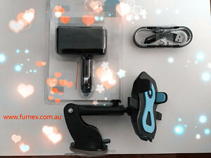 UPGRADED 3 IN 1--360° ROTATION HOLDER+MULTI SOCKET USB CHARGER+USB CHARING CABLE