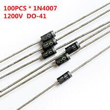 100Pcs/Lot 1N4007 4007 1A 1200V DO-41 Rectifier Diode Free Shipping
