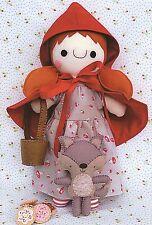 RED RIDING HOOD & WOLFIE Sewing Craft PATTERN - Soft Toy Felt Rag Doll Bear