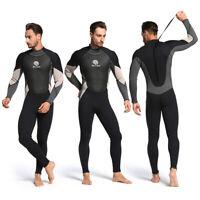 3mm OnePiece Neoprene Diving Suit Winter Long Sleeve Men Wetsuit Snorkeling Suit