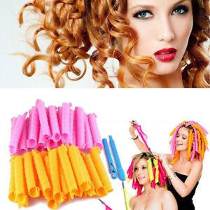 1Set Max! Magic Hair Salon Curlers Rollers DIY Tool Silicone No Heat Hair Spiral