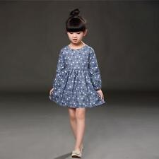 Girl Long Sleeve Polka Dot Princess Dress Kids Baby Party Pageant Dresses 110