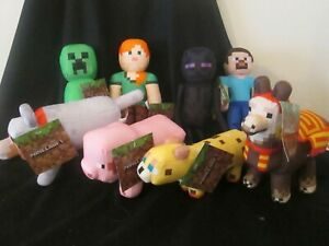 MINECRAFT Complete Set Of 8 Plush / Soft Toys BRAND NEW WITH TAGS! Licensed
