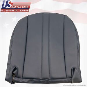 2003-2016 Chevy Express Van Driver Bottom Vinyl Seat Cover Color Blue