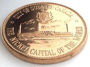 City Of Sudbury Canada Nickel Capital Of World Centennial Numismatic Park L128