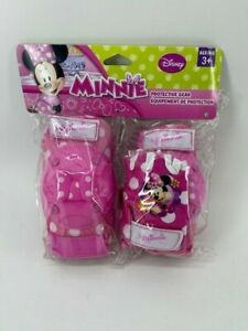 Bell Minnie Mouse Protective Gear with Elbow Pads/Knee Pads & Gloves New