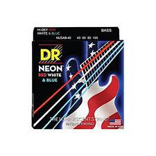 DR Strings NUSAB-40 K3 Neon USA Flag Electric Bass Strings (40-100)