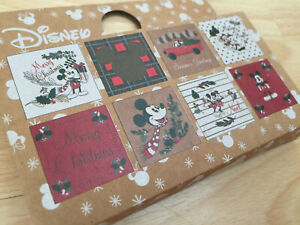 Disney Mickey Minnie Mouse Christmas gift tags paper present wrapping vintage