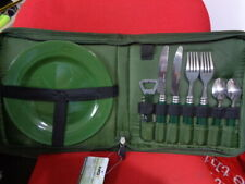 cutlery set camping fishing bivvy  - walking - caravan - motorhome 2 person set