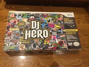Wii DJ Hero turntable kit 93 original mixes NEW SEALED BOX Turntable,Game 93 mix
