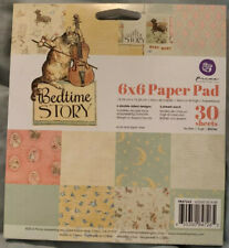 "Prima Marketing Bedtime Story Paper Pad 6x6 6"" Nursery Rhymes 30 Sheets 2015 NEW"