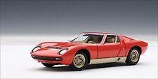 LAMBORGHINI MIURA SV RED 1/43 DIECAST MODEL CAR BY AUTOART 54543