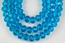 72pcs  Aqua Chinese Crystal Faceted Rondelle Loose Beads Jewelry Making Spacer