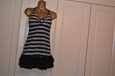 U.K. Stock Women/Ladies 3 Pcs Stripy Bikini Swimsuit/Costume, Dress Size 10