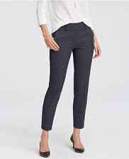 Ann Taylor Petite 2P (XSP) Blue Curvy Kate Geo Jacquard Ankle Pants $89.00 (D23)
