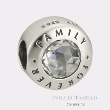Authentic Pandora Sterling Silver Family Forever Bead 791884CZ